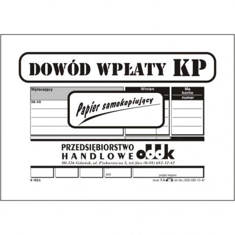 Dowod wplaty KP/SK