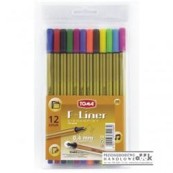Cienkopis TOMA F-Liner 12 kolorów