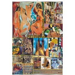 Plansza VISUAL SYSTEM - Kubizm i futuryzm - sztuka XX wieku