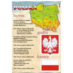 Plansza VISUAL SYSTEM - Polskie godło, barwy, hymn