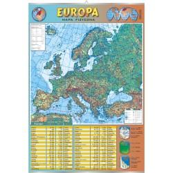PlanszaVISUAL SYSTEM - Europa - mapa fizyczna