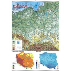 Plansza VISUAL SYSTEM - Polska - mapa hipsometryczna skala 1:000000