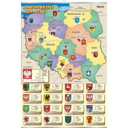PlanszaVISUAL SYSTEM - Administracyjna mapa Polski z herbami