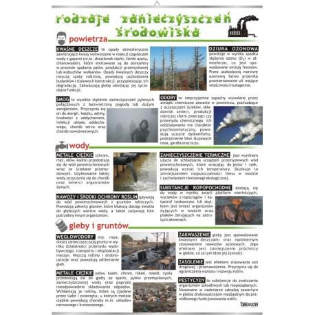 Plansza VISUAL SYSTEM - Rodzaje Zanieczyszczeń Środowiska