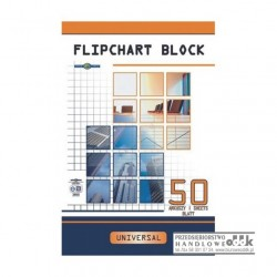 Blok do flipcharta 50 kart. gładki INTERDRUK