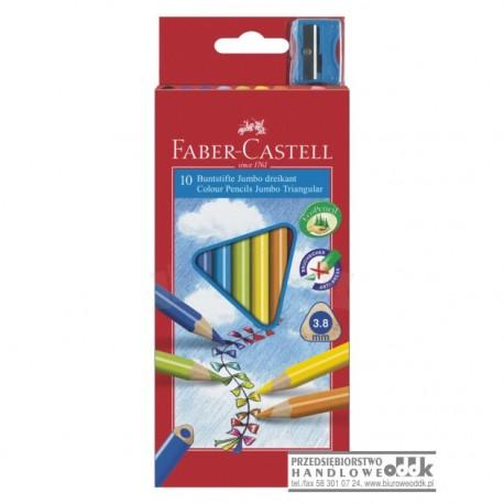 Kredki ołówkowe 10 kol. Grip FABER-CASTELL