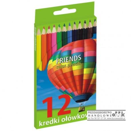 Kredki ołówkowe 12 kol. GRAND