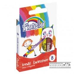 Kredki świecowe 8 kol. Fiorello