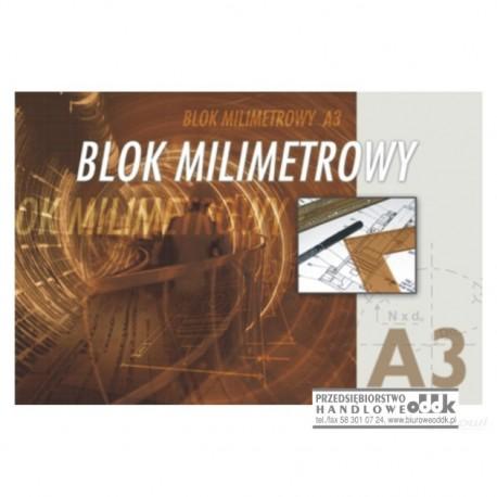 Blok milimetrowy A3