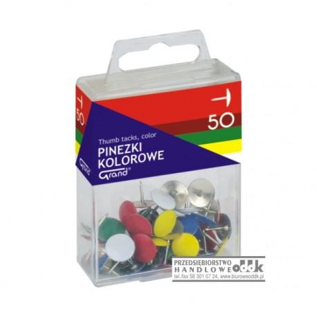 Pinezki kolorowe GRAND 50 szt.