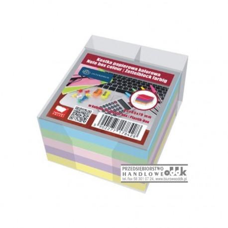 Notes kostka kolorowy w pojemniku INTERDRUK