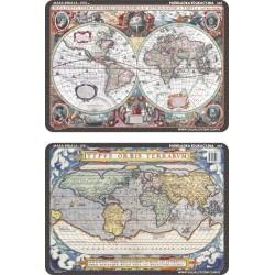 PODKŁADKA EDUKACYJNA 40X30 CM - MAPY ŚWIATA Z XVI I XVII W 065