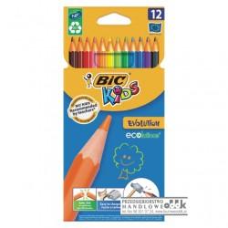 Kredki ołówkowe 12 kol. BIC Evolution